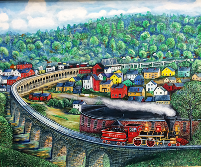 colorful painting of the great stone viaduct