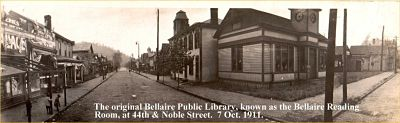 The original Bellaire Public Library, known as the Reading Room